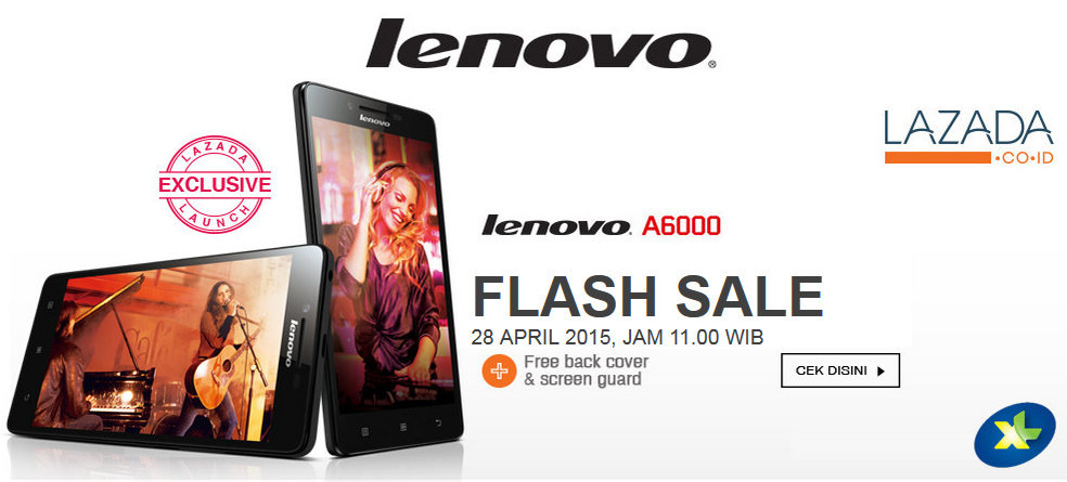lenovo a6000 flash sale 28 April 2015 jam 11 siang