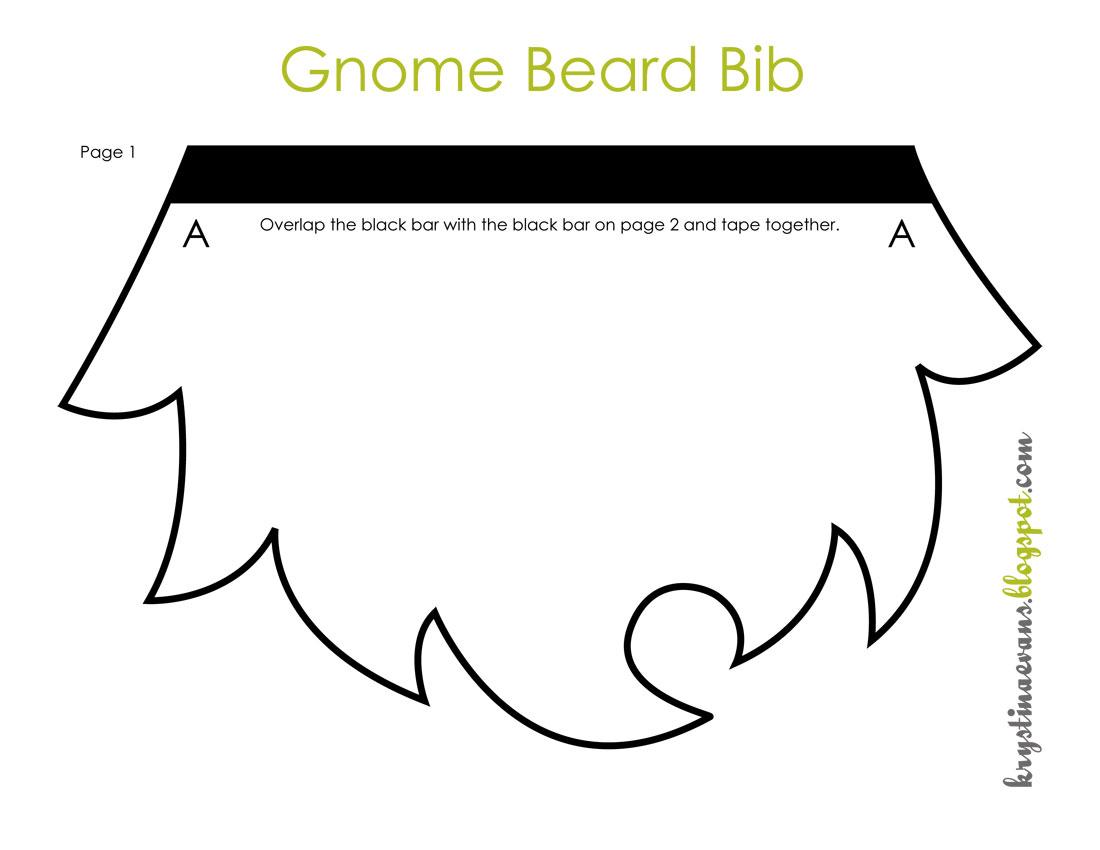Beard Template Gnome beard bib {free pattern}