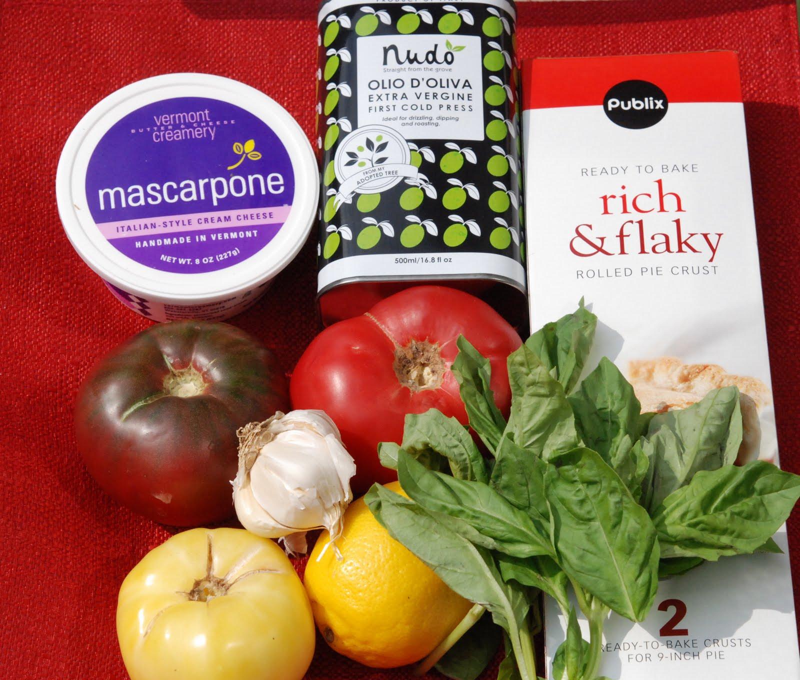 marys bites: Heirloom Tomato and Lemon Mascarpone Tart with Prosciutto ...