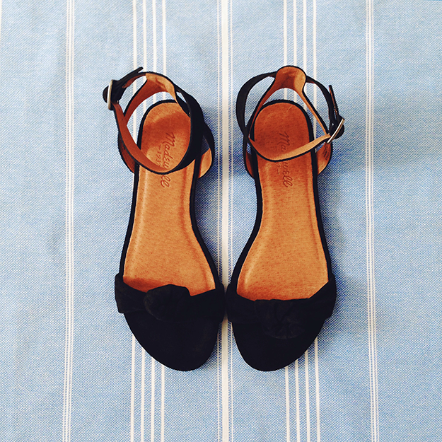 suede knotted sandals