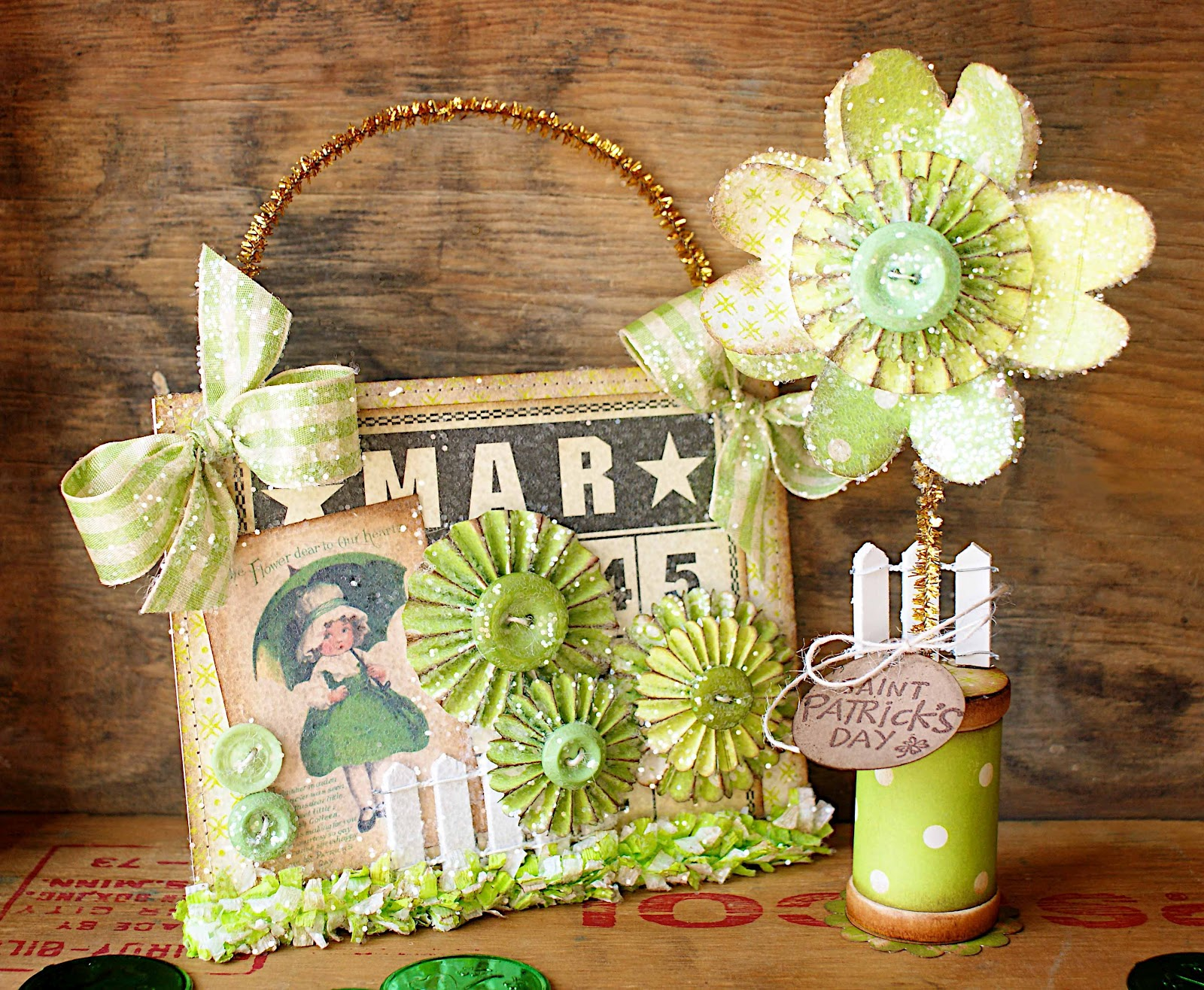 Sizzix Die Cutting Inspiration and Tips: St. Patrick\'s Day Decor