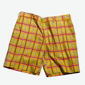 Plaid Mustard Shorts