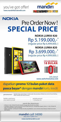 Harga Nokia Lumia 920 Windows Phone 8 Smartphone