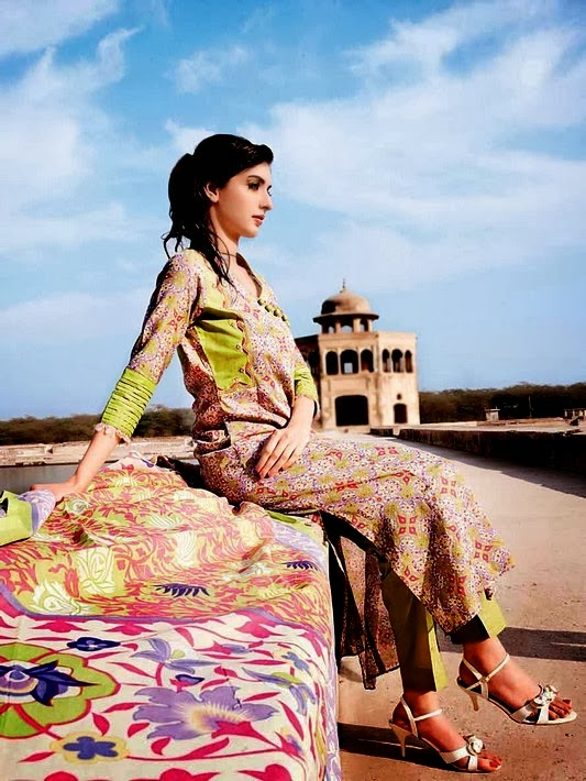 Gul Ahmed Printed Lawn Dresses 2014
