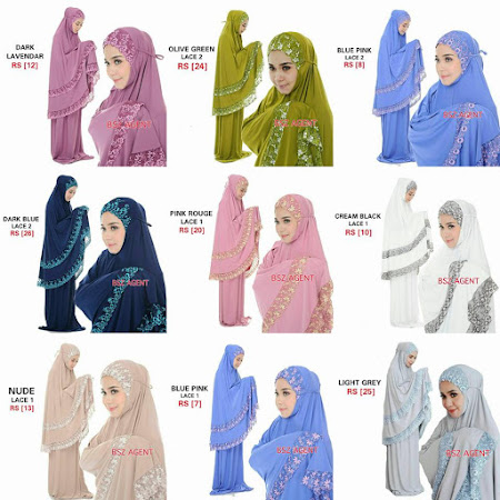 Dengan 25 warna MAnis Yang Paling Ditunggu restock telekung siti zainab exclusive kegemaran ramai