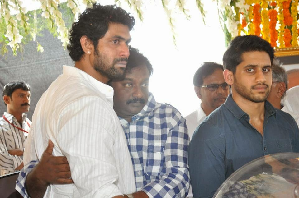 Sridevi & other celebs at Producer Daggubati Ramanaidu's Funeral