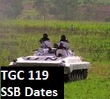 TGC 119 SSB dates of Indian Army