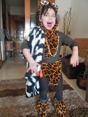 disfraz casero, troglodita, hombre prehistorico