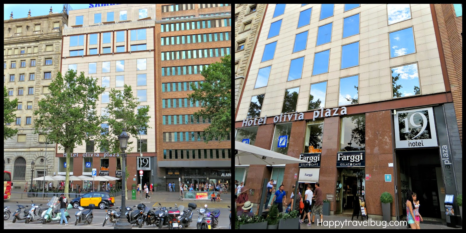 The happy travel bug olivia plaza hotel in barcelona spain for Hotel plaza barcelona