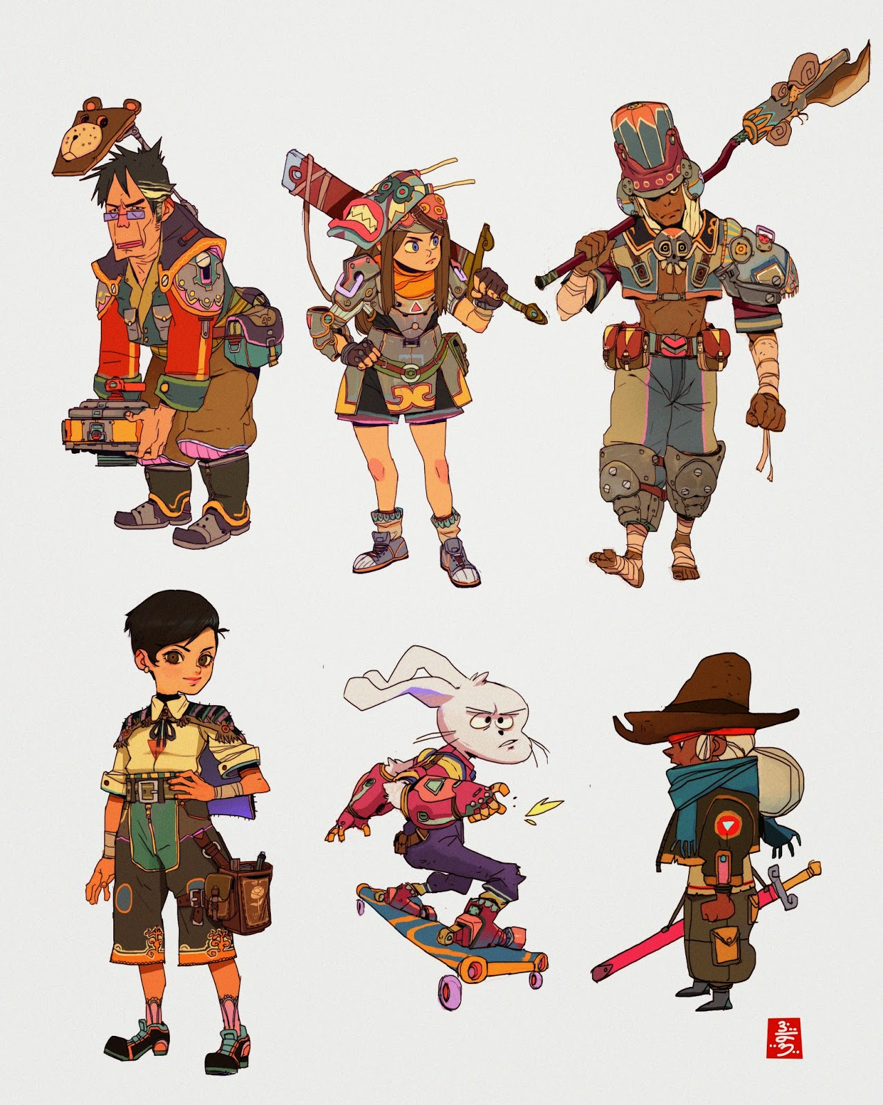 Character Design Color Palette : Ahmad beyrouthi charactering