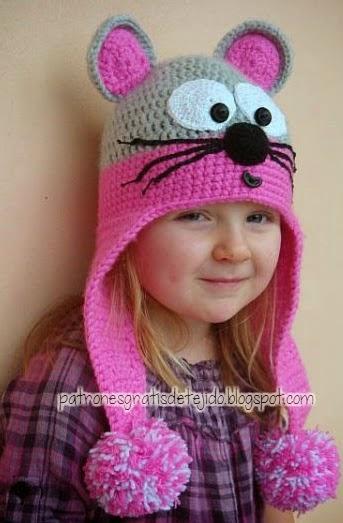 Cómo tejer un gorro con orejeras al crochet , 3 diseños