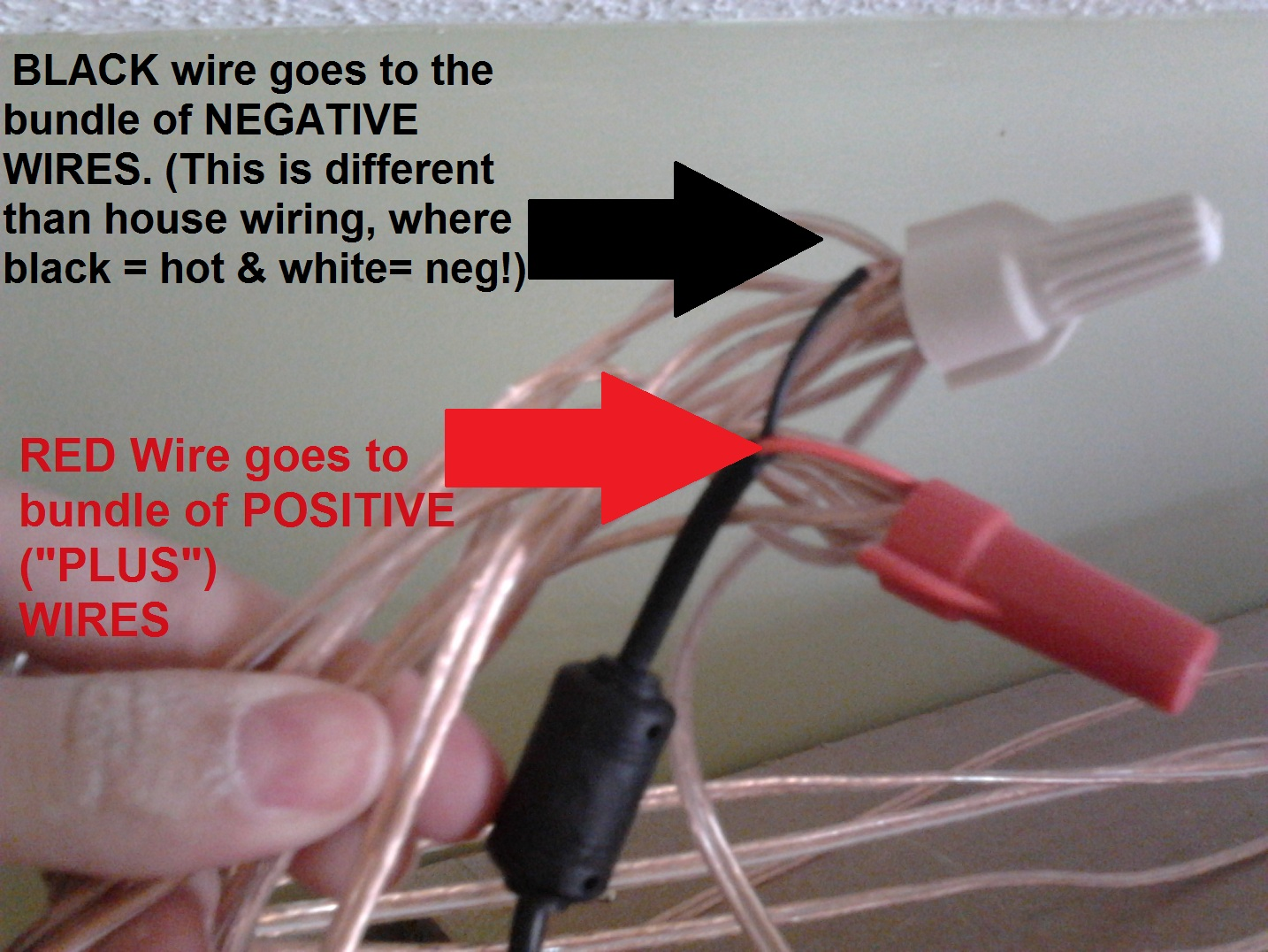 How to wire install led reel lighting a tutorial mom and her drill aloadofball Choice Image