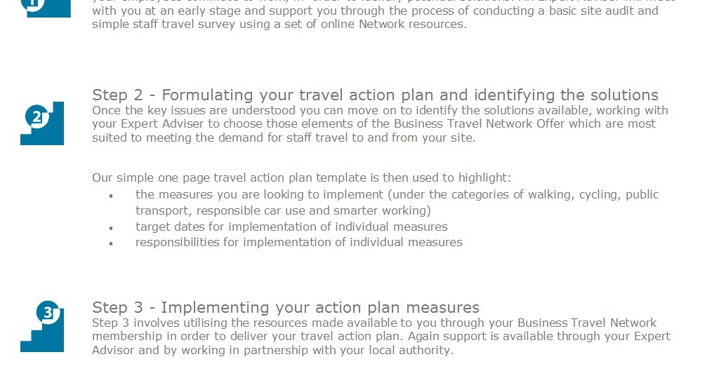 Business Travel Network: Travel Action Plans