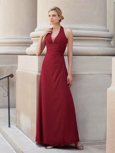 Vestidos Madre de la Novia, Color Borgoña