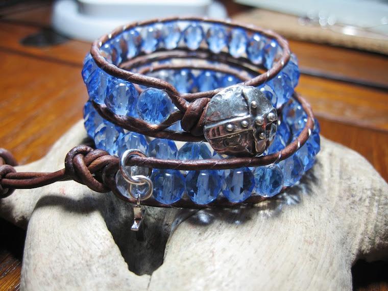 vintage czech beads 50's circa wrap bracelet