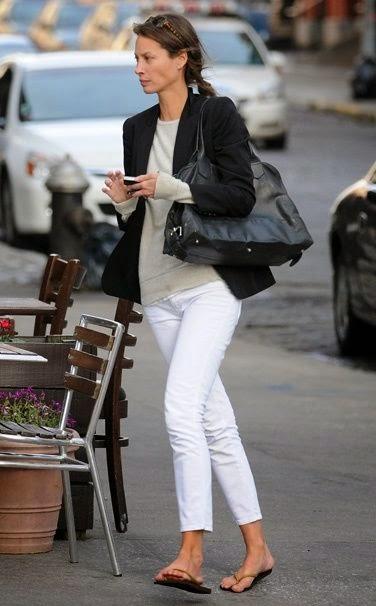 Making White Jeans Elegant Northern California Style