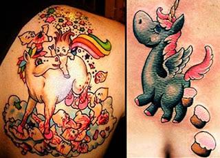 Tatuagens femininas engraçadas - unicórnio