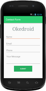 Contoh Contact Form Android Layout xml