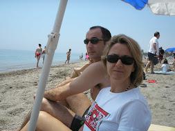 """Belén y """"Gerard"""" en la playa -Aguadulce-"""