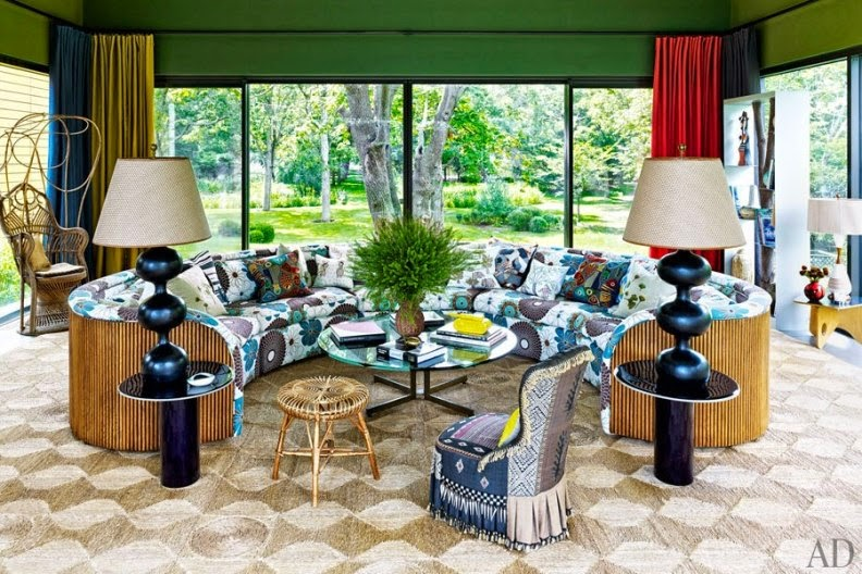 casa colorida y vintage en the hamptons