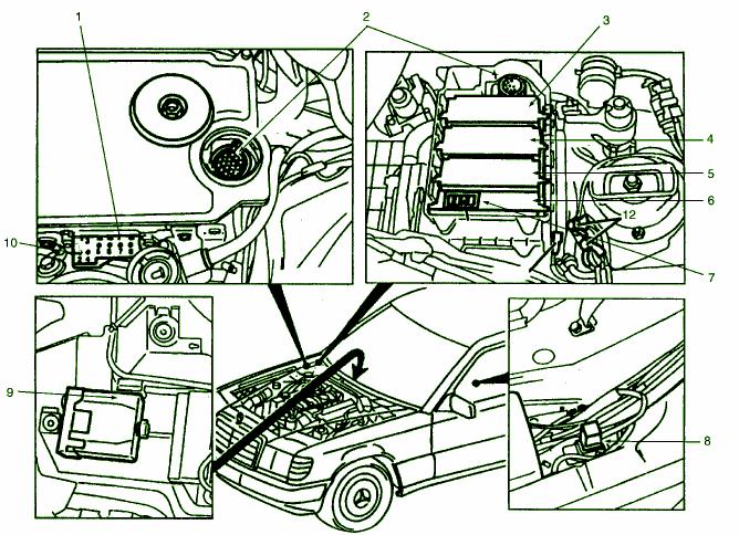 diagram ingram: Fuse Box Diagram Mercedes 400E 93