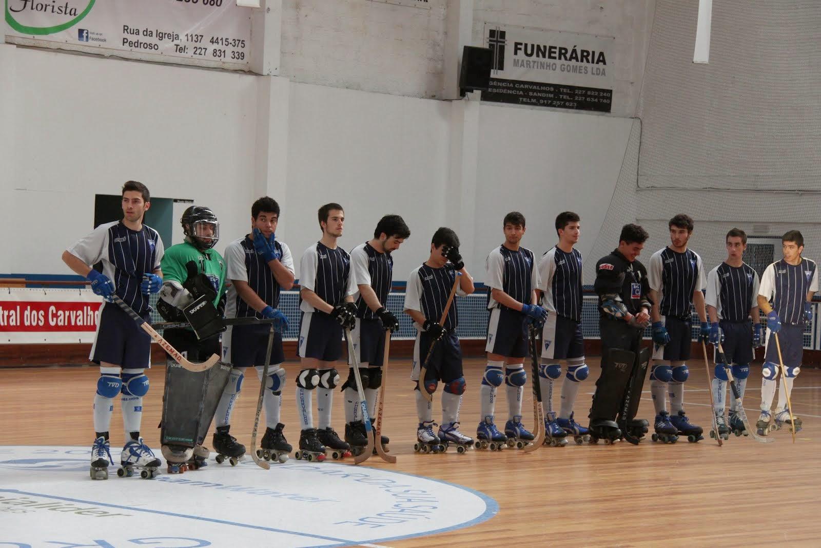 Equipa sub 20 Época 2014-2015 CH Carvalhos 12º lugar no Nacional