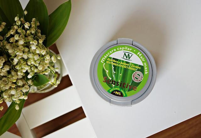 Aloesowa maska dla wrażliwej skóry głowy - NaturVital, Sensitive Hair Mask Aloe Vera