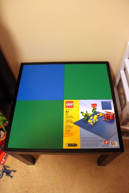 The adventures of mr no ikea side table to lego table for Table lego ikea