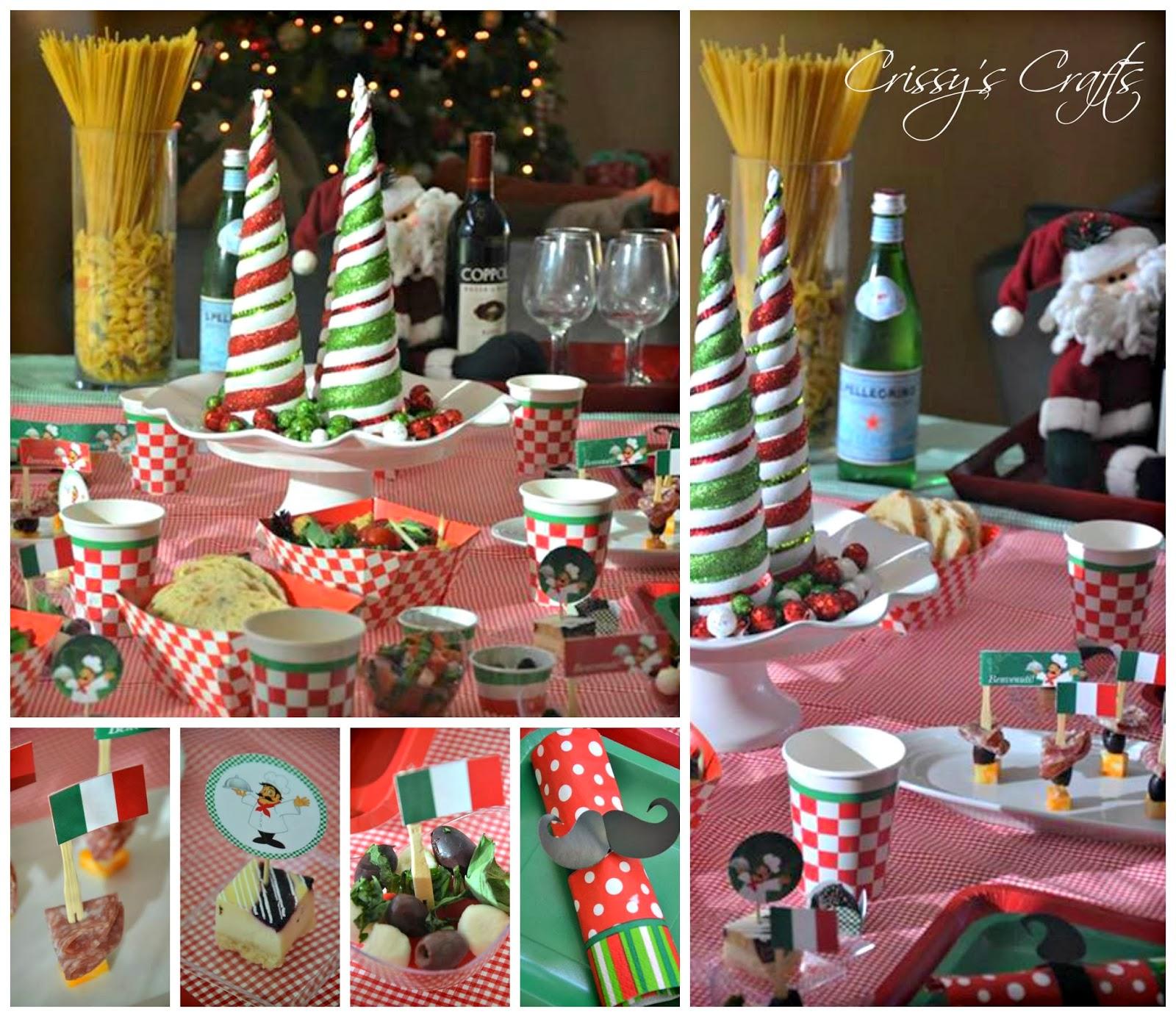 Crissy 39 s crafts italian holiday night for Italian party