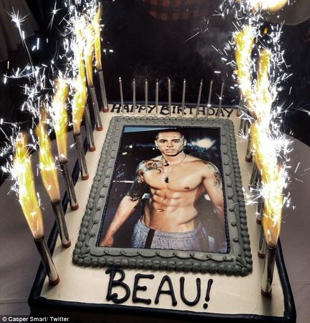 Picture Jennifer Lopez Presents Her Boyfriend Beau Casper Smart with Naked Torso Birthday Cake