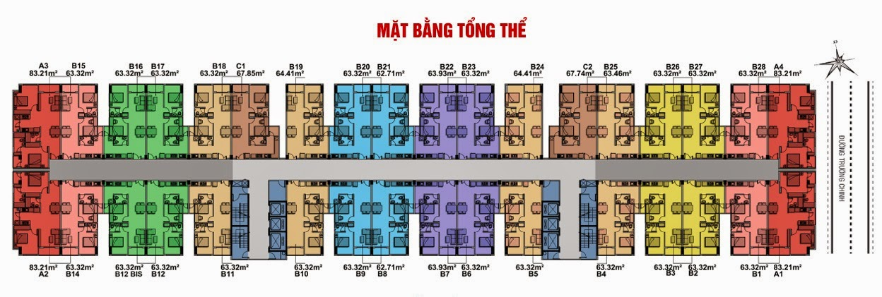 Bán căn hộ 8X Plus mặt đường Trường Trinh giá chỉ từ 12,3 triệu / m2 14