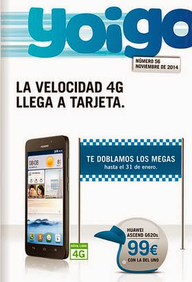 Revista de YOIGO- NOVIEMBRE 2014