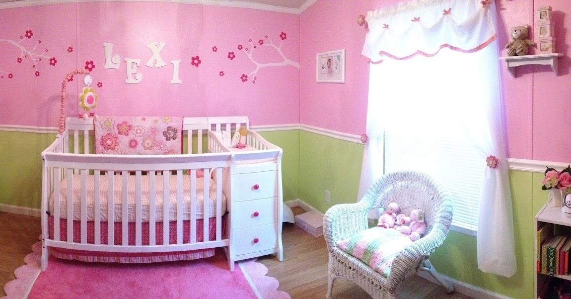 Peinture chambre b b fille rose et vert b b et for Peinture chambre bebe fille