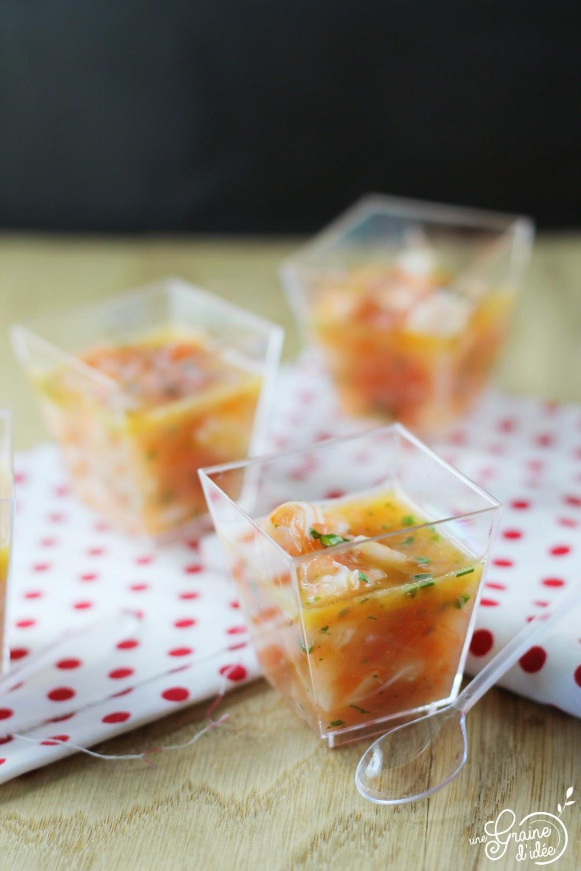Verrine Crevettes Roses Pomelo - Une Graine d'Idée