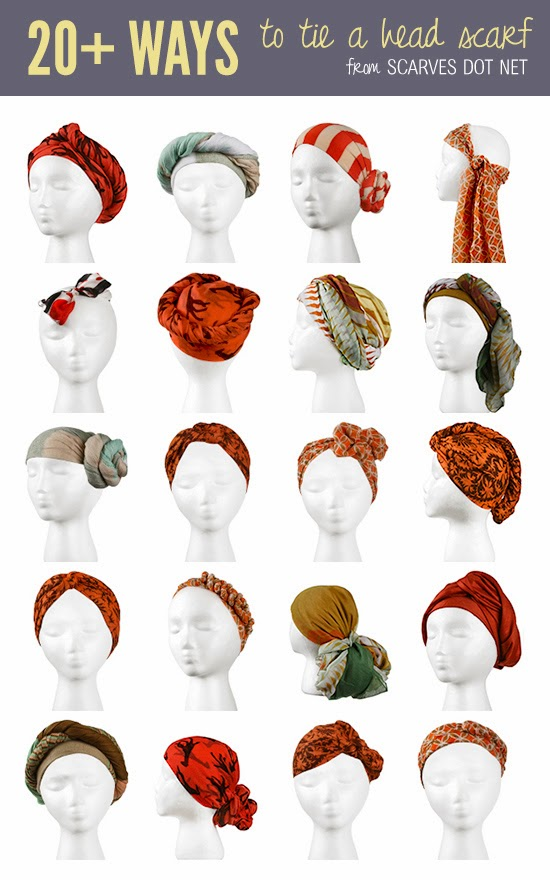 Different Ways To Tie A Head Scarf Mothers How To Tie Scarf Knots
