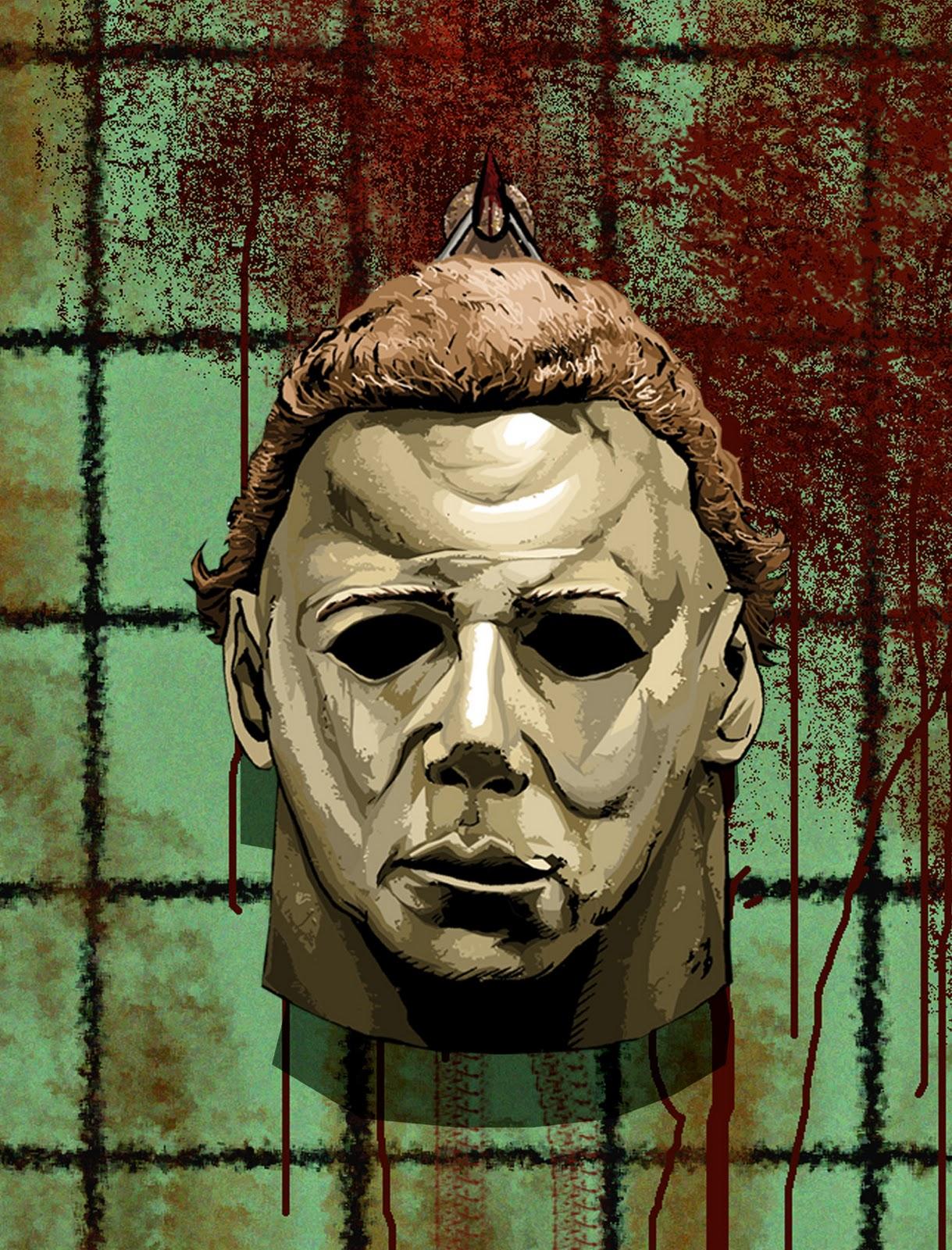 Caffeinated joe halloween michael myers art - Masque halloween film ...
