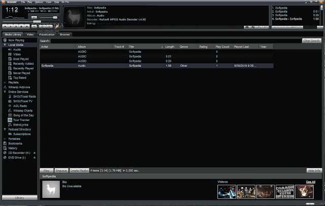 Winamp 5.63 Build 3234 Pro Screenshot