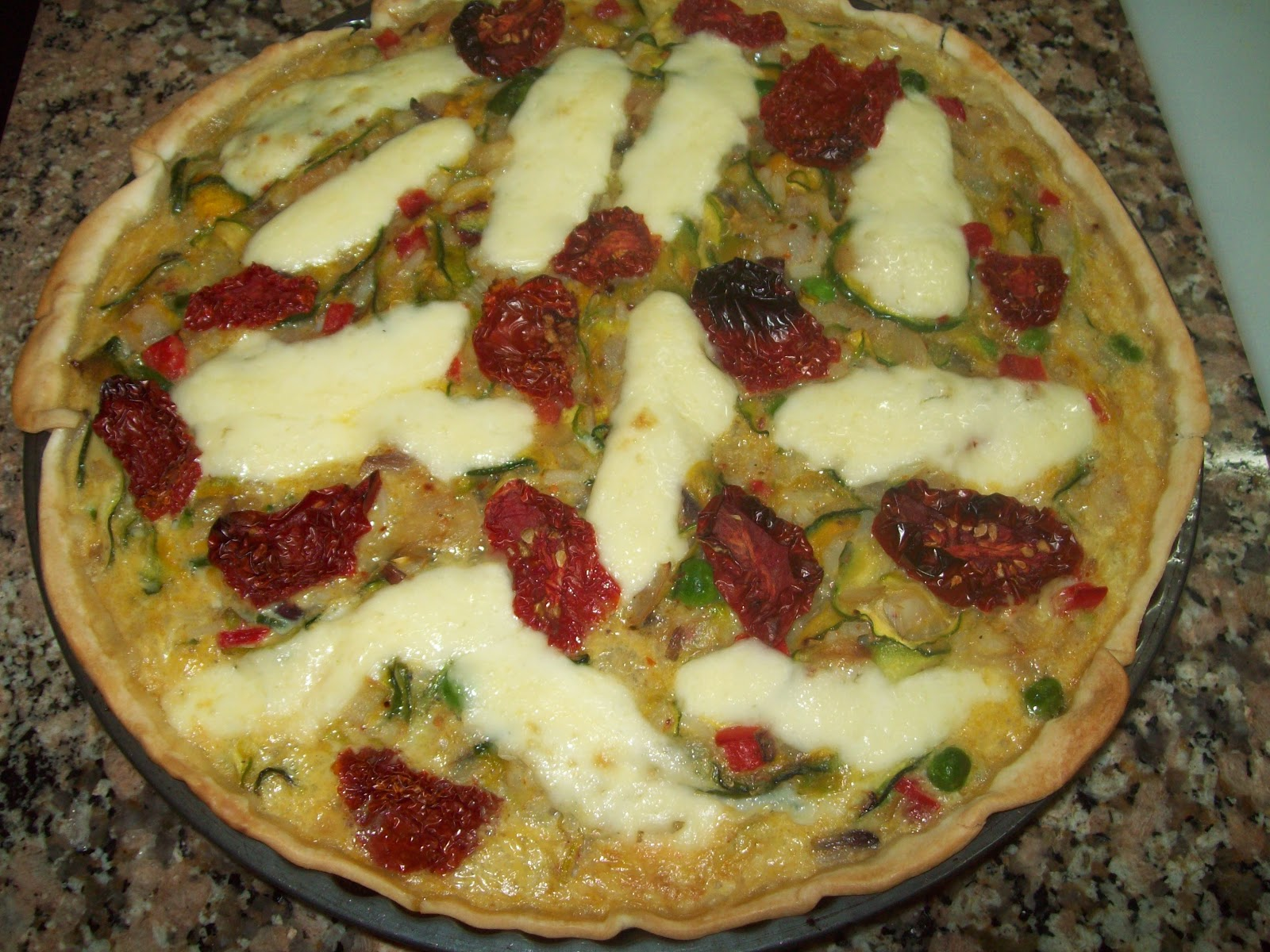 Tarta de zapallitos tomates secos arroz y arvejas for Ideas de comidas rapidas y faciles