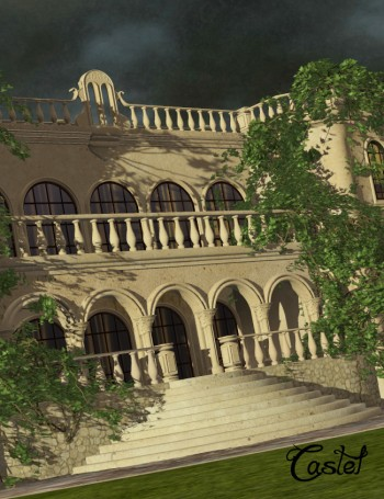 3d Models - Castel for DAZ Studio and Poser