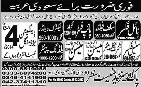 FIND JOBS IN PAKISTAN TIL FIXER STEEL FIXER JOBS IN PAKISTAN LATEST JOBS IN PAKISTAN
