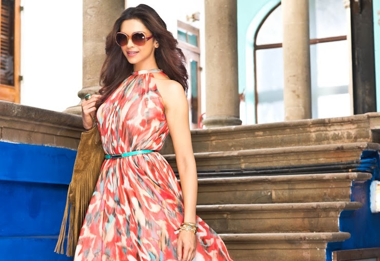 Deepika Padukone flower printed gown in Vogue Eyewear