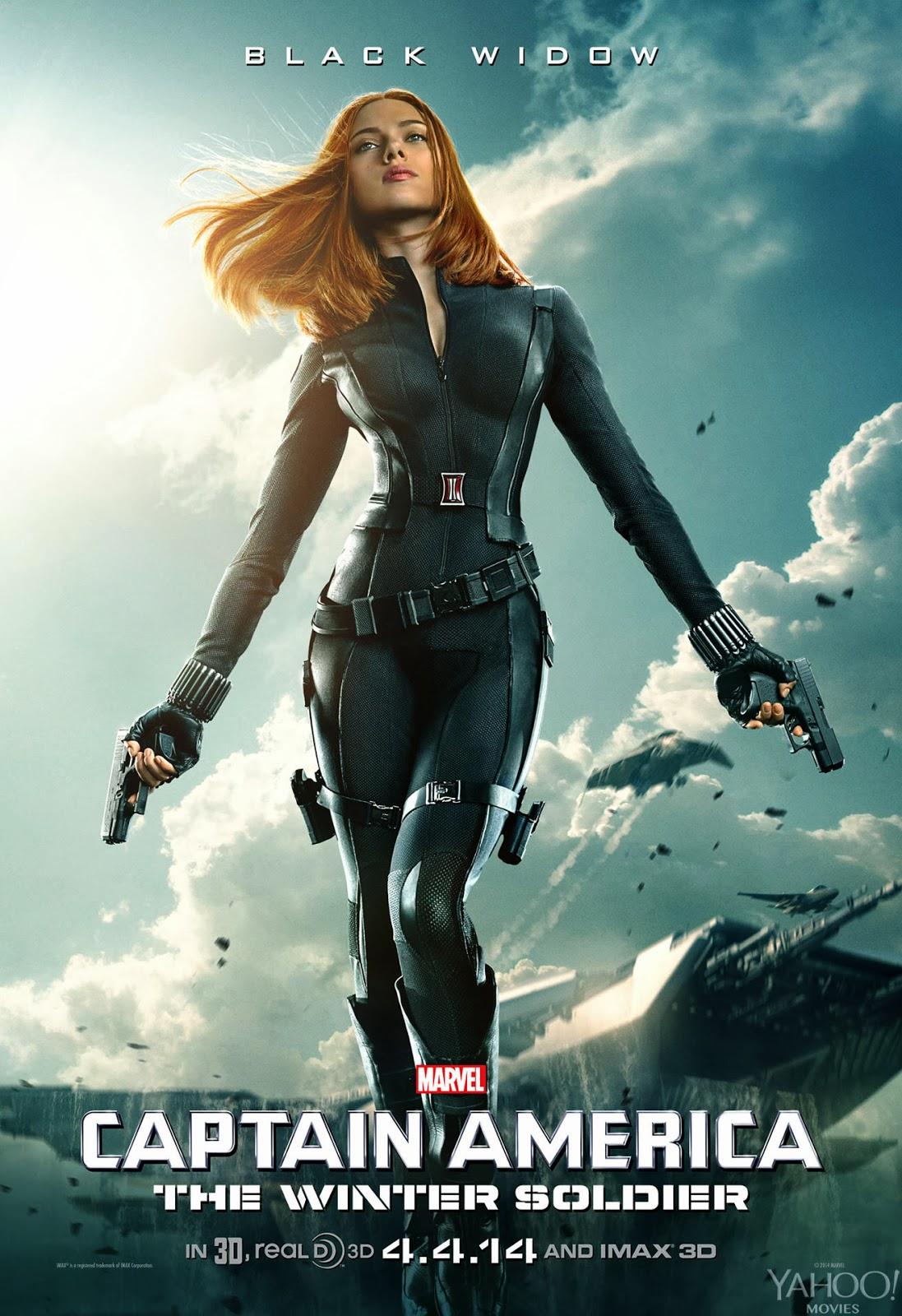La viuda negra en el Poster Capitan America: El Soldado de Invierno