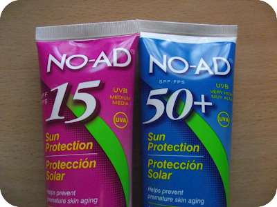NO AD Suncream factor 15 and 50