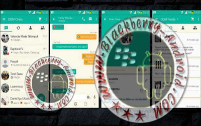 BBM Versi 2.9.0.44  Material Tema Hining Green Apk