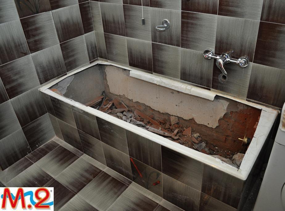 Sostituzione completa vasca da bagno m 2 trasformazione vasca in doccia e sistema vasca nella - Sostituzione vasca da bagno ...