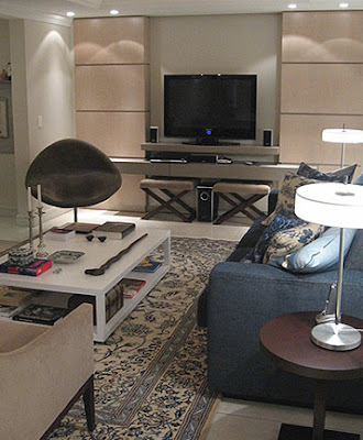 tapete oriental na sala de estar