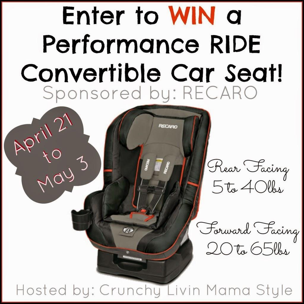 RECARO Performance Ride Convertible Car Seat Giveaway