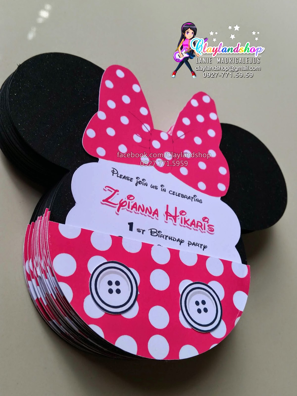 Clayland Souvenir Shop Zyianna Minnie Mouse Invitation