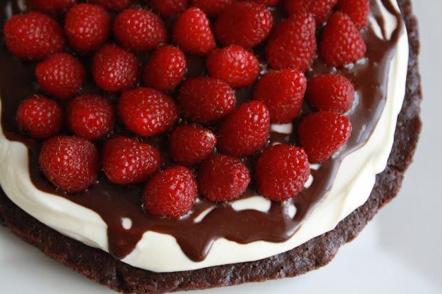 paleo SCD dort cokolada smetana maliny bez lepku
