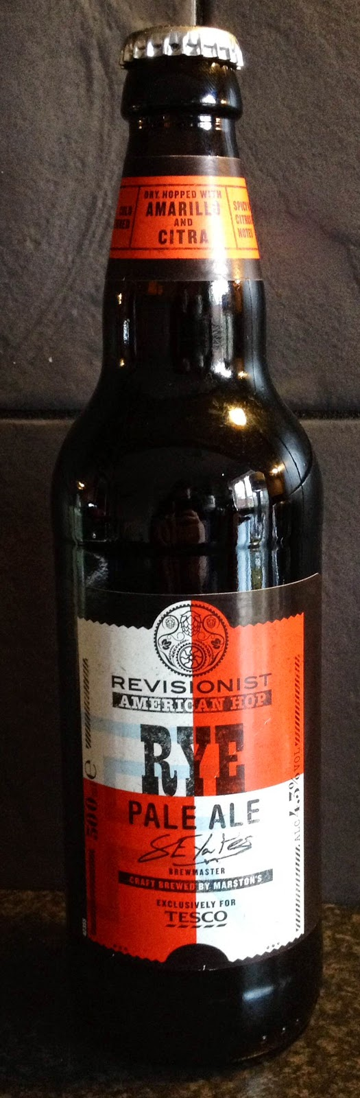 Rye Pale Ale (Marstons for Tesco)